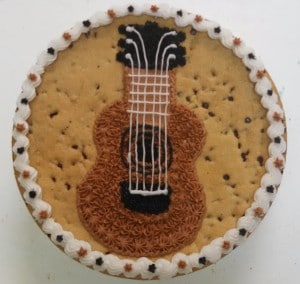 Guitar Cookie Cake