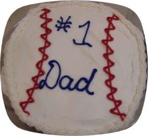 1 DAD baseball Cupcake cake