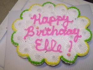 Tear apart cupcake cake