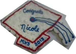 Grad Cap cupcake cake