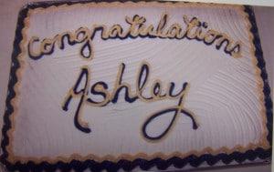 Full Sheet Cake Congratulations