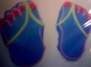 Sandal feet
