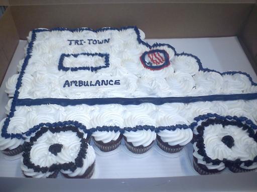 Ambulance Cupcake Cake