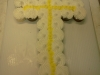 cross made with cupcakes