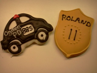 Police Car and Badge
