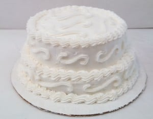 2 Tier Wedding Topper Cake